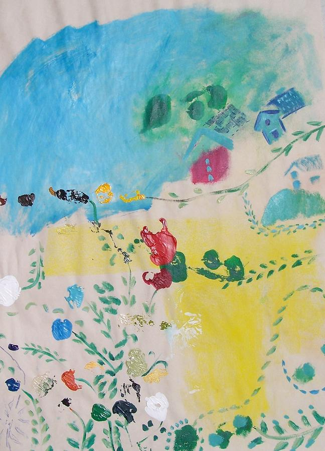 Flowers Painting - the Poetics of a clear day by Geraldine Liquidano
