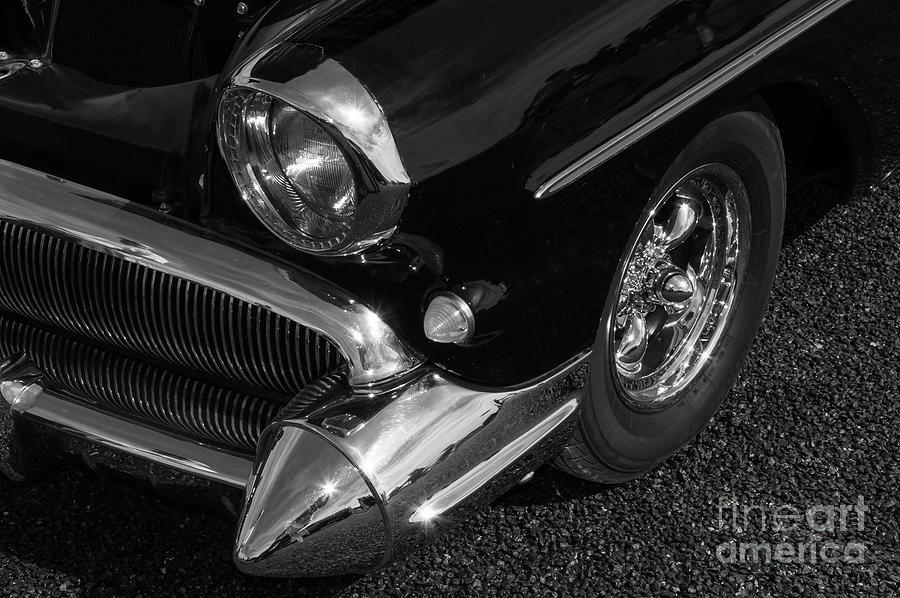 Cars Photograph - The Pointed Chrome Bumper by Kirt Tisdale