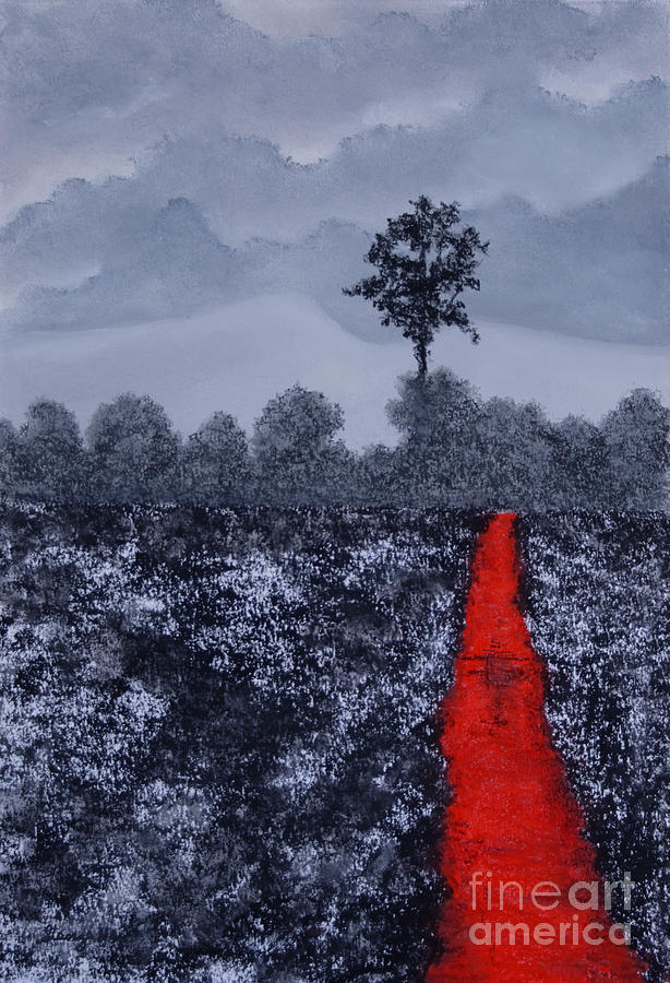 Black Landscape Painting - The Poison Stream by Stanza Widen