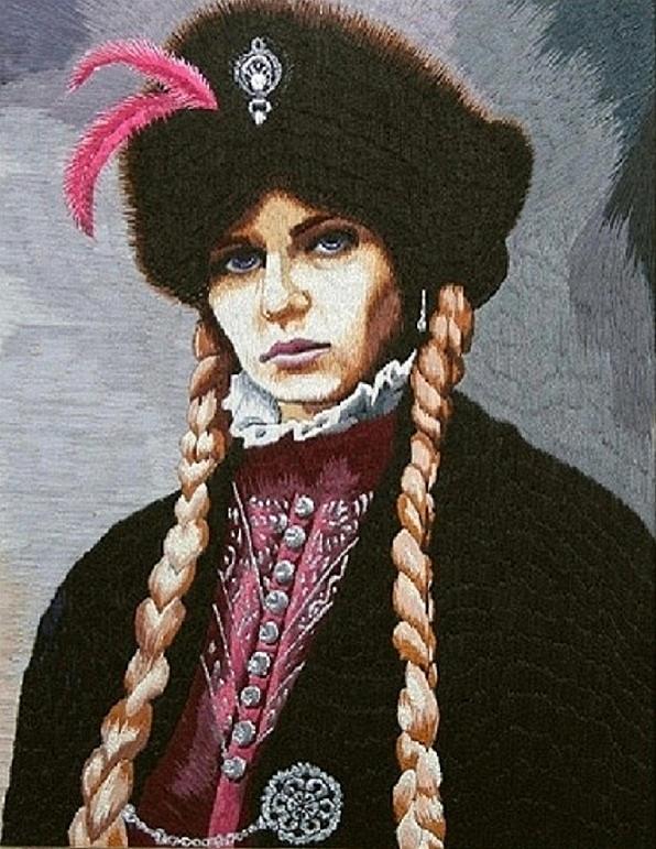 Portrait Tapestry - Textile - The Polish Countess by Irina Melenchuk