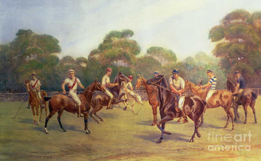 The Painting - The Polo Match by C M  Gonne