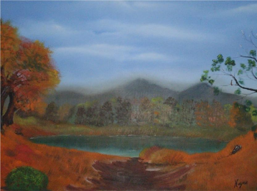 Water Painting - The Pond by Barbara Hayes