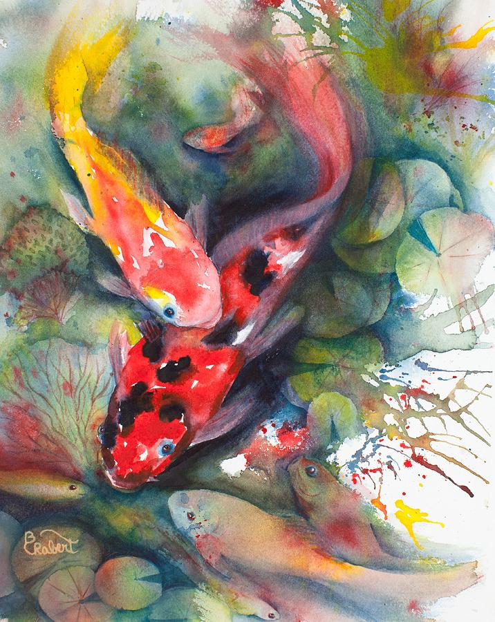 Koi Painting - The Pond by Bonnie Rabert