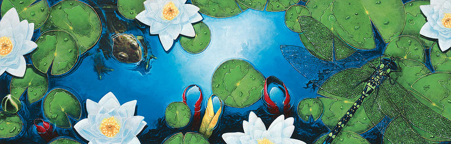 Pond Painting - The Pond by Durwood Coffey