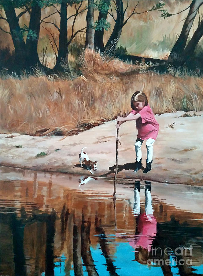Scenes Painting - The Pond by Suzanne Schaefer
