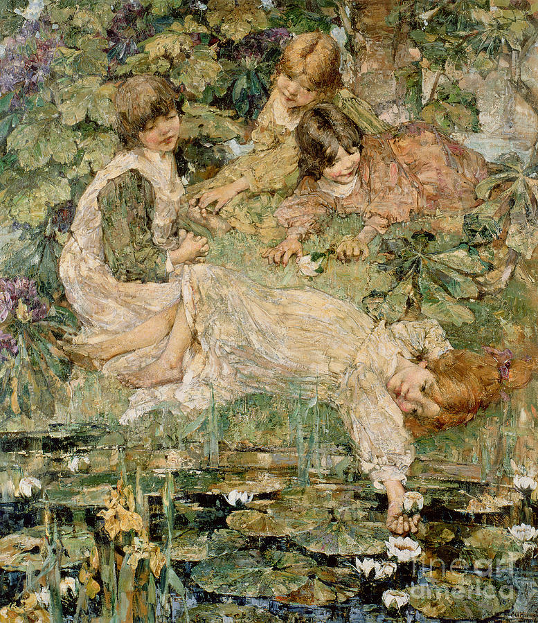 The Painting - The Pool by Edward Atkinson Hornel