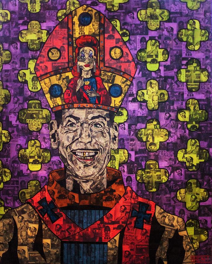 John Waters Painting - The Pope Of Trash by Brent Andrew Doty