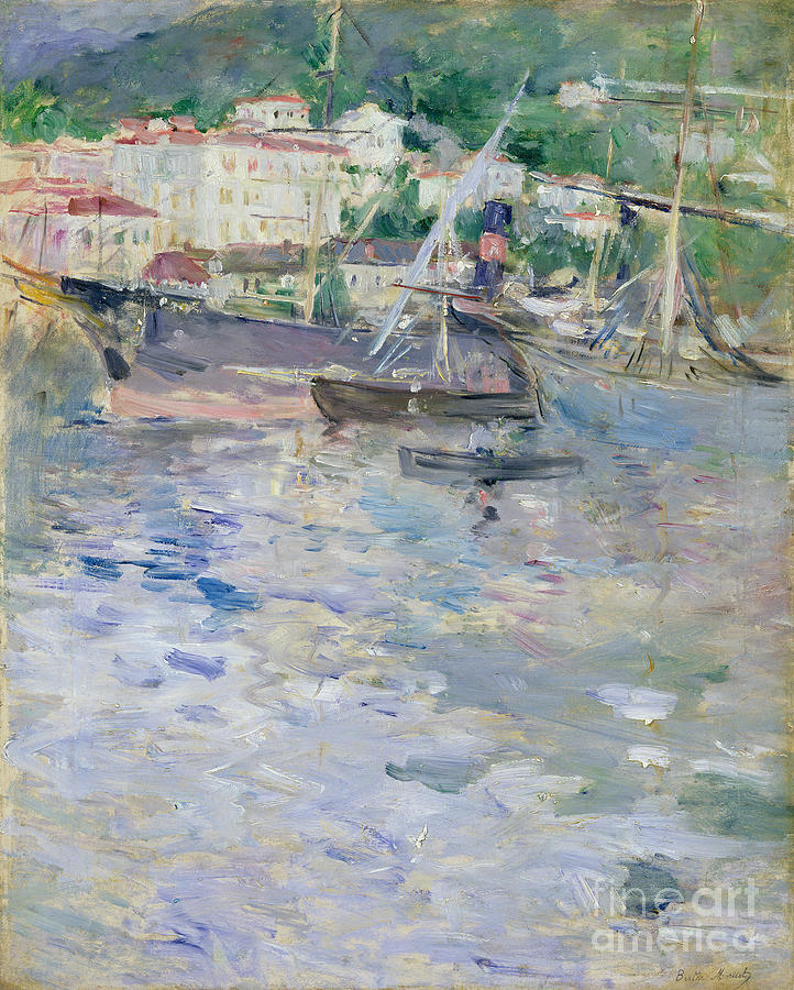 The Painting - The Port At Nice by Berthe Morisot