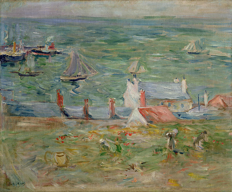The Painting - The Port Of Gorey On Jersey by Berthe Morisot