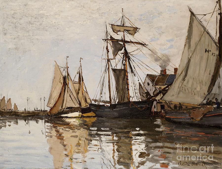 Claude Monet Painting - The Port Of Honfleur by Claude Monet