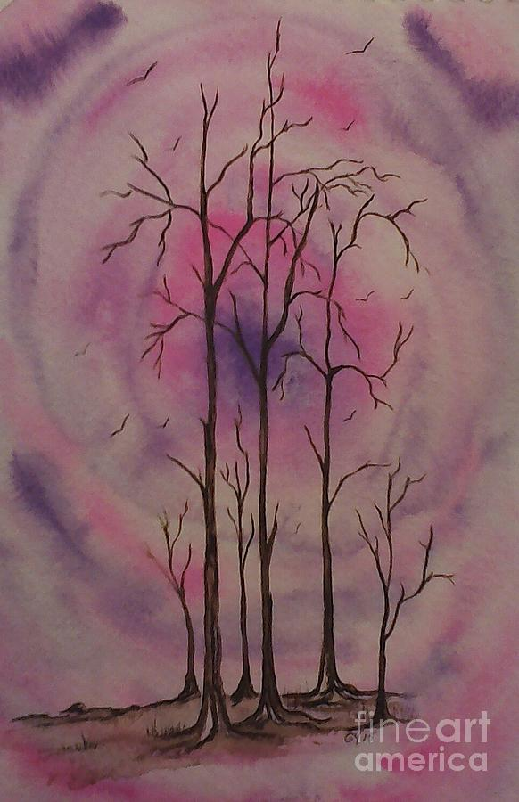 Trees Painting - The Portal by Ginny Youngblood