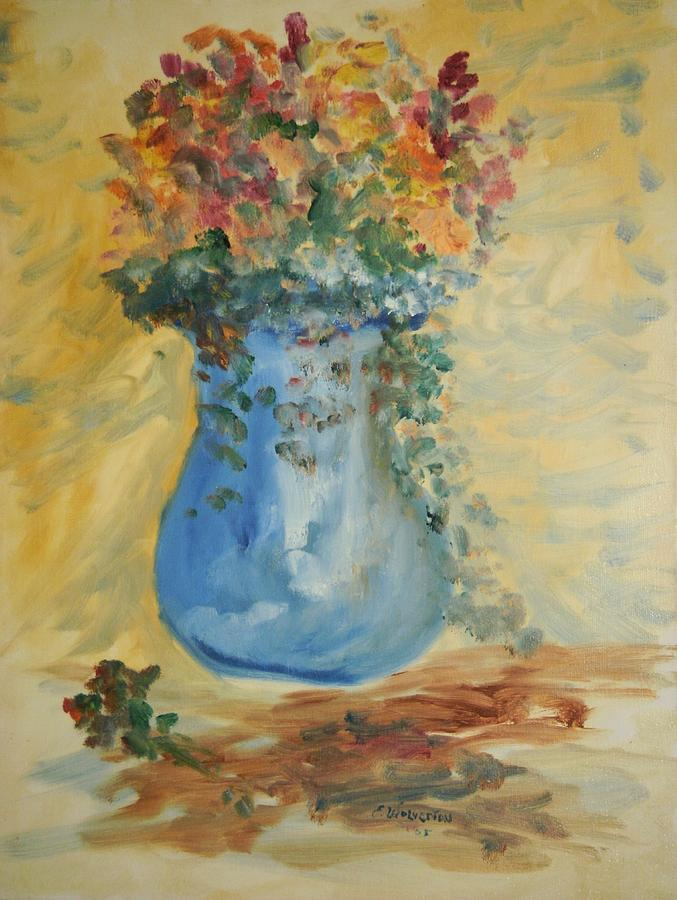 Still Life Painting - The Pot Belly Vase by Edward Wolverton