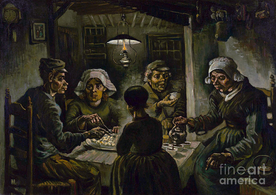 Vicent Painting - The Potato Eaters by Van Gogh