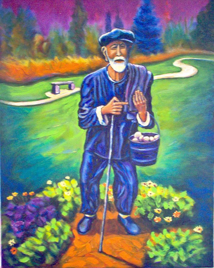 The Potato Man Painting by Steve Lawton