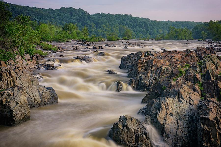 The Potomac River At Great Falls Photograph