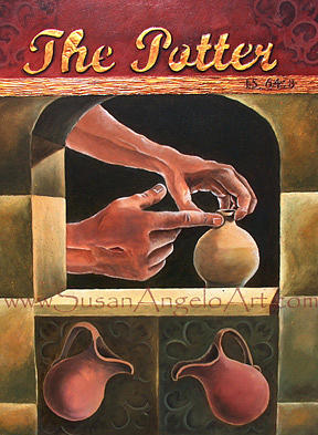 Pottery Painting - The Potter by Susan-Angelo  DeBay