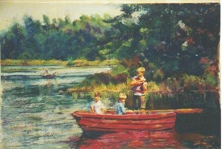 The Potvin Boys Painting by Harvey Segal