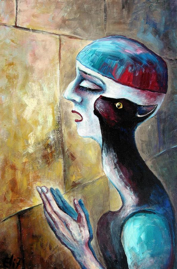 Symbolism Painting - The Prayer by Elisheva Nesis