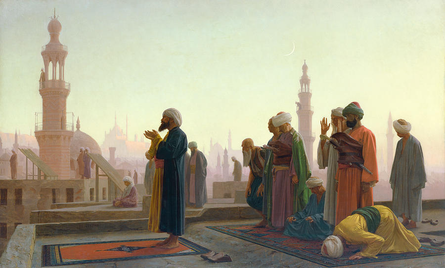 The Painting - The Prayer by Jean Leon Gerome