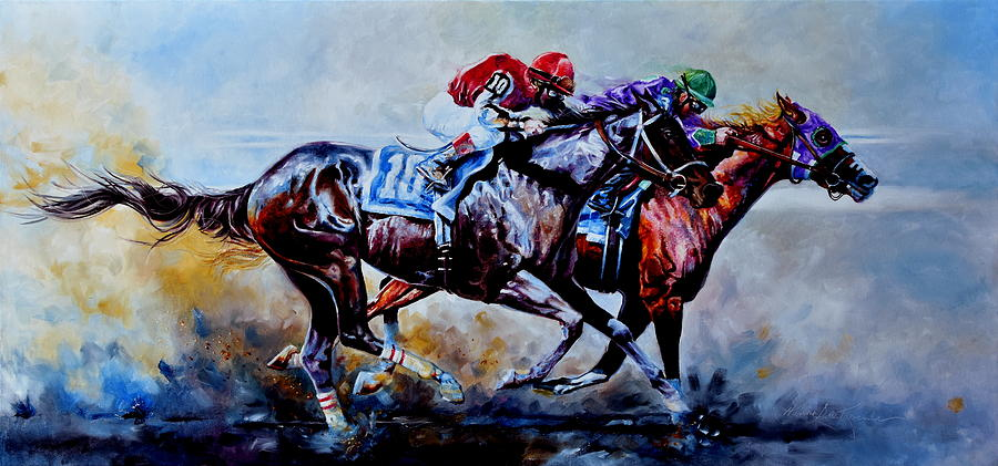 The Preakness Stakes Painting