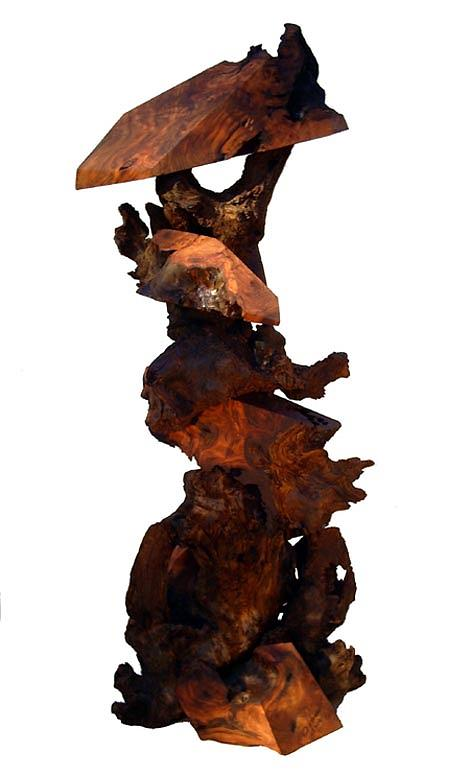 Driftwood Sculptures Sculpture - The Precipice  by Daryl Stokes