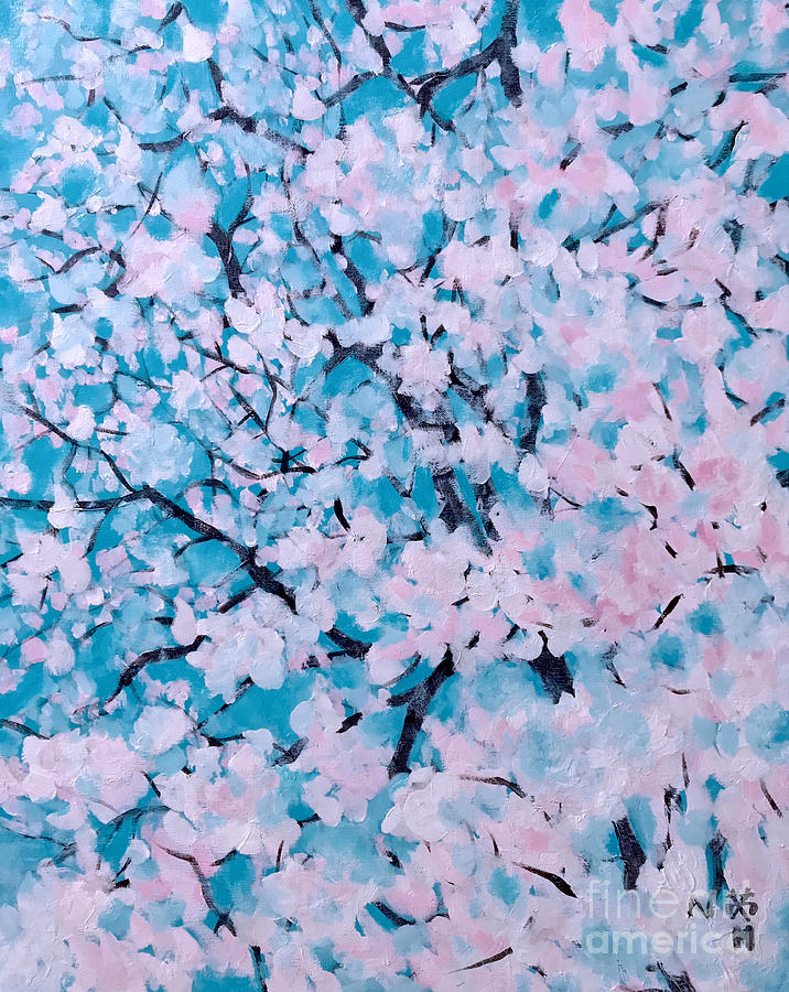 Blooming Painting - The Pretty Blooming by Wonju Hulse
