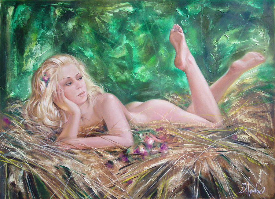 Ignatenko Painting - The pretty summer by Sergey Ignatenko