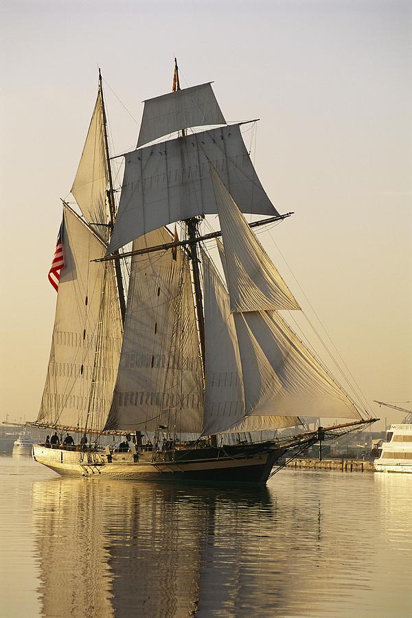 North America Photograph - The Pride Of Baltimore Clipper Ship by George Grall