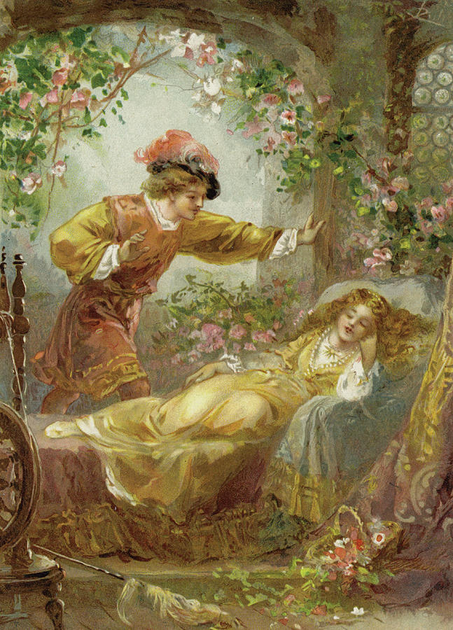 The Prince Finds The Sleeping Beauty Painting By English