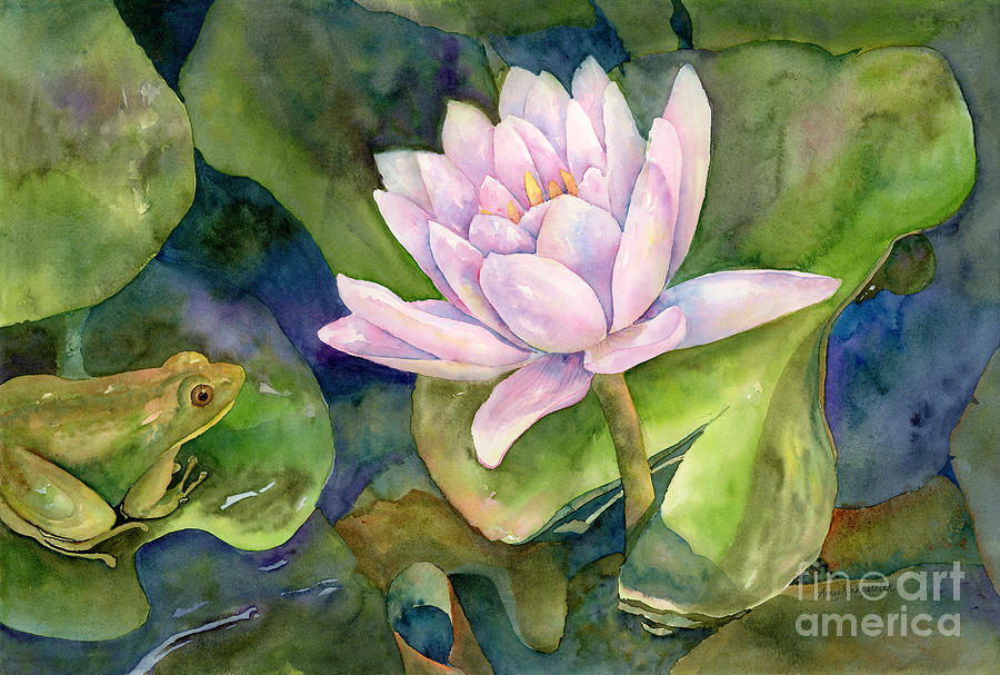 Frog Painting - The Prince of Peace Pond by Amy Kirkpatrick