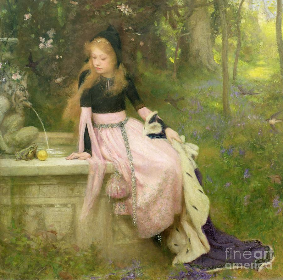 The Painting - The Princess And The Frog by William Robert Symonds