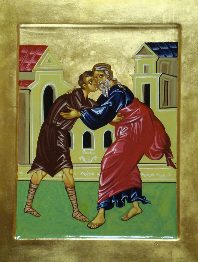 Icon Painting - The Prodigal Son by Joseph Malham