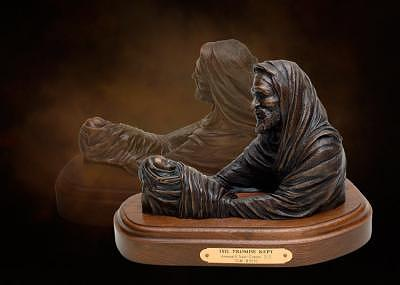 Abraham And Isaac Sculpture - The Promise Kept by Tom White