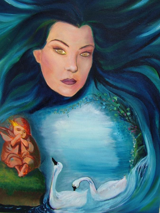 Portrait Painting - The Protectoress by Janine Shideler