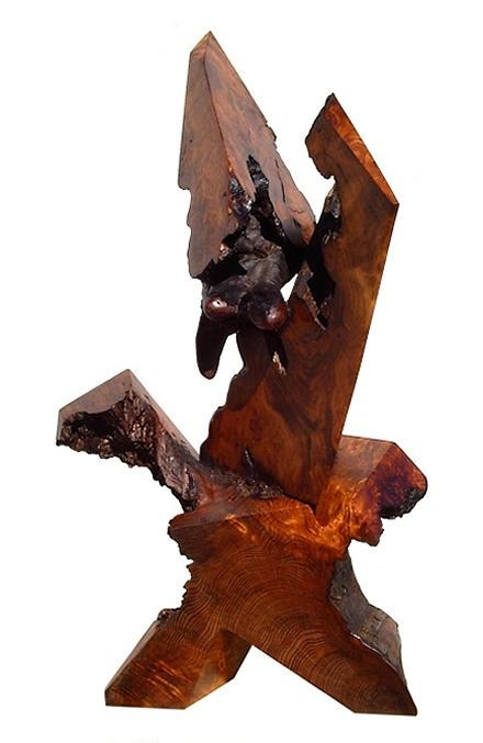 Redwood Sculptures Sculpture - The Protester by Daryl Stokes