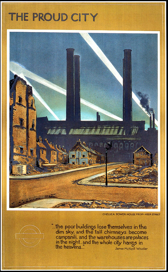 The Proud City - London Underground, London Metro - Retro Travel Poster - Vintage Poster Mixed Media