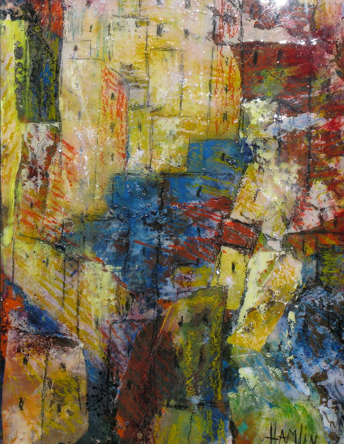 Abstract Mixed Media - The Provence by Marcelle Hamelin