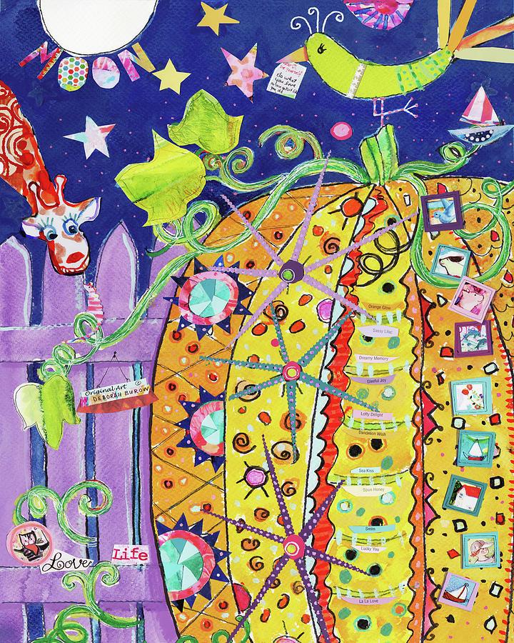 Pumpkins Painting - The Pumpkin Papers by Deborah Burow