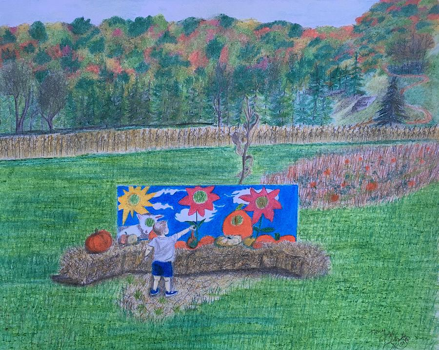 Pumpkin Drawing - The Pumpkin Patch  by Tony Clark