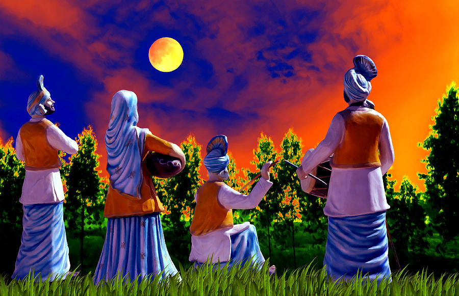 Punjab Digital Art - The Punjabi Life by Bliss Of Art