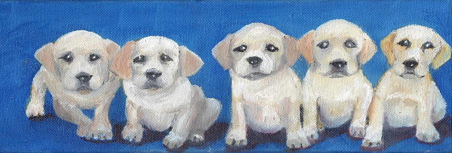 Puppies Painting - The Pups 2 by Roger Wedegis