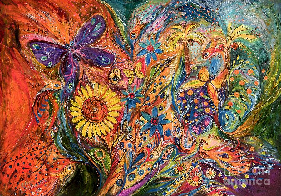 Original Painting - The Purple Butterfly Of Yotvata by Elena Kotliarker