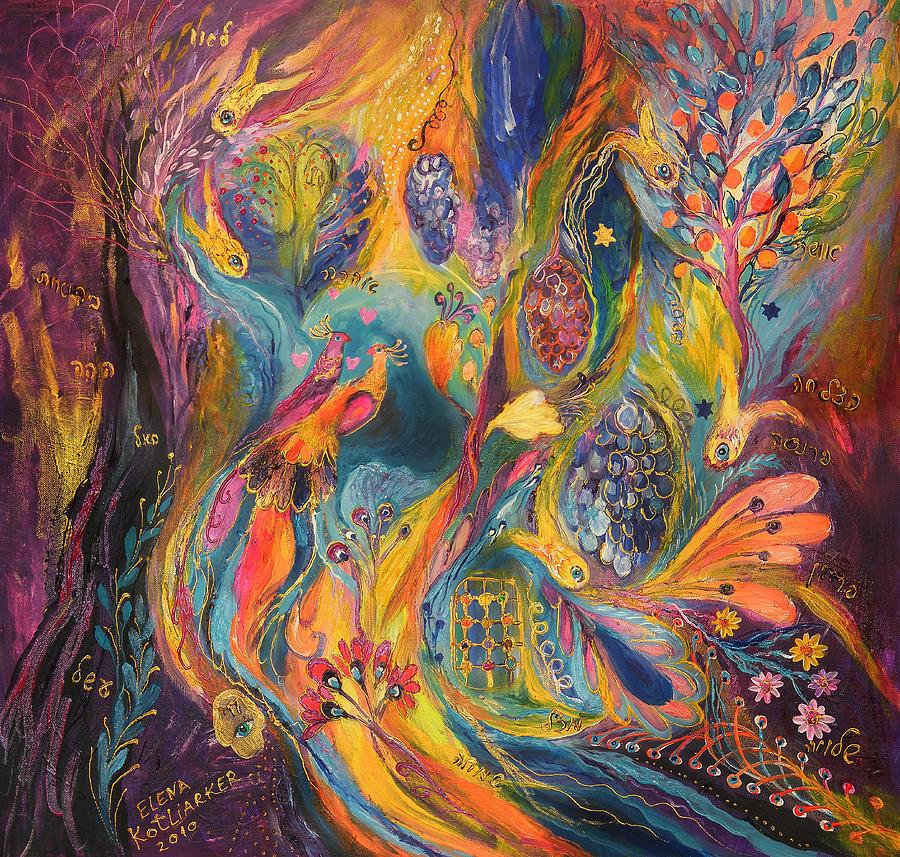 Original Painting - The Purple Rain by Elena Kotliarker