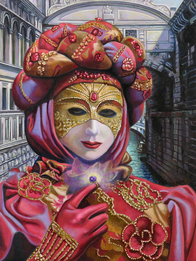Venice Painting - The Purple Stone by Miguel Tio