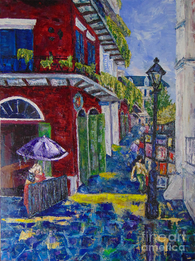 The Purple Umbrella        Pirates Alley by Beverly Boulet