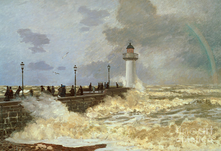The Quay at Le Havre Painting by Claude Monet