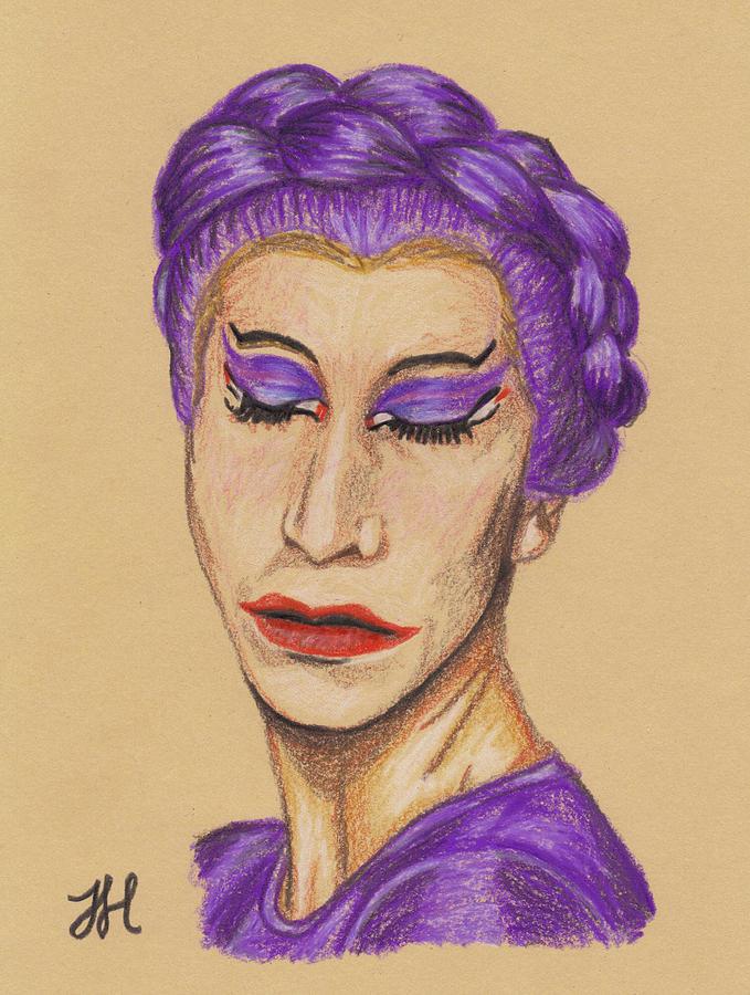 Drag Queen Drawing - The Queen by Jean Haynes