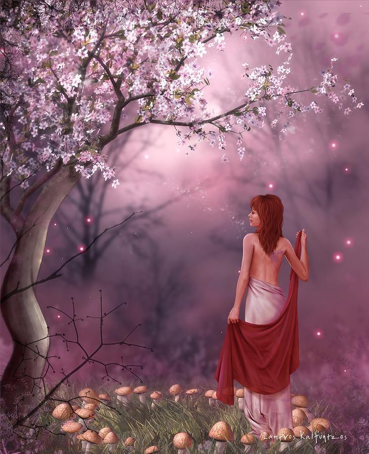 Fantasy Digital Art - The Queen by Lampros Kalfuntzos