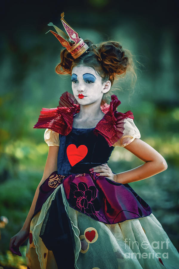 Alice In Wonderland Photograph - The Queen Of Hearts Alice In Wonderland by Dimitar Hristov