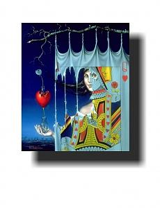 The Queen Of Hearts Painting by Tito Salomoni